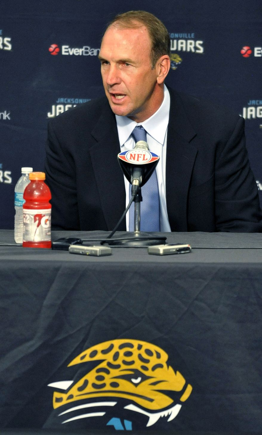 Mike Mularkey was named the Jacksonville Jaguars head coach after spending the 2008-11 seasons as the Atlanta Falcons offensive coordinator. (Associated Press)