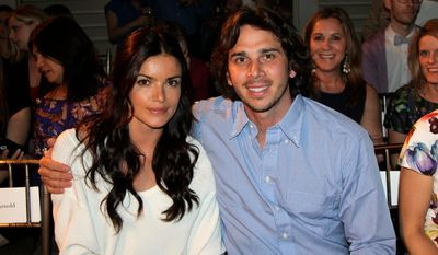 """Ben Flajnik, star of the ABC romance series """"The Bachelor,"""" and his fiancee Courtney Robinson are in """"no rush"""" to set a wedding date. (Associated Press)"""