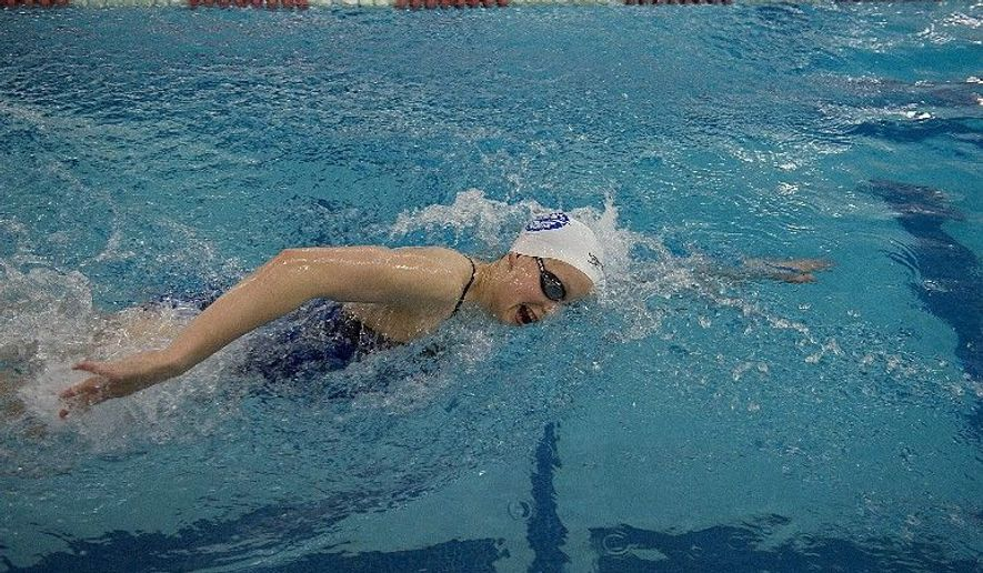 Katie Ledecky is ranked second in the 800 meters and third in the 400 among American swimmers. The 15-year-old from Bethesda also has qualified for the 100- and 200-freestyle events at the Olympic Trials in Omaha, Neb. (Barbara L. Salisbury/The Washington Times)