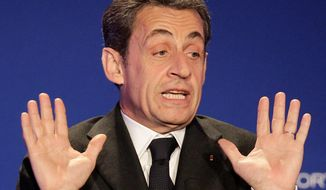 ** FILE ** Former French President Nicolas Sarkozy. (Associated Press)