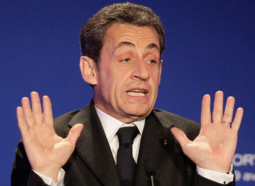 ** FILE ** Former French President Nicolas Sarkozy. (Associated Press)