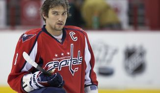 ** FILE ** Washington Capitals left wing Alex Ovechkin (AP Photo/Evan Vucci)
