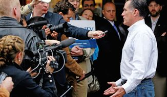 "Analysis of campaign coverage by the Pew Research Center involving more than 11,000 news outlets says GOP candidate Mitt Romney received the lion's share of attention after the Michigan primary, when his nomination became ""essentially inevitable."" (Associated Press)"