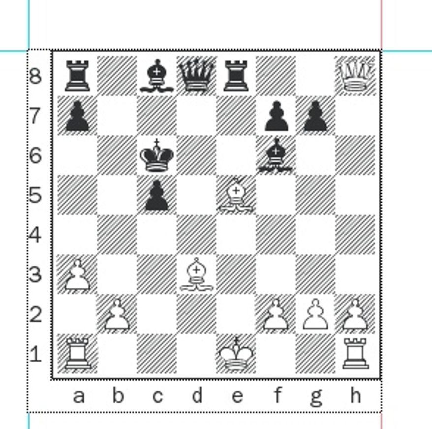 Svidler-Morozevich after 18...Kxc6.