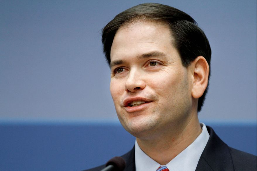"""""""Preventing a nuclear Iran may tragically require a military solution,"""" says Sen. Marco Rubio. (Associated Press)"""