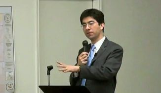 **FILE** Al Armendariz, Environmental Protection Agency Region 6 administrator, speaks at a town-hall meeting in 2010. (Courtesy of YouTube)