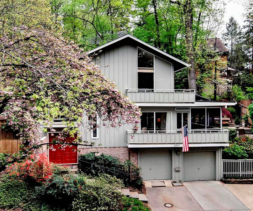 The home at 5347 MacArthur Blvd. NW in the District's Kent community is on the market for $1,250,000. The home, built in 1969, has five bedrooms, three full baths, a powder room and an open floor plan.