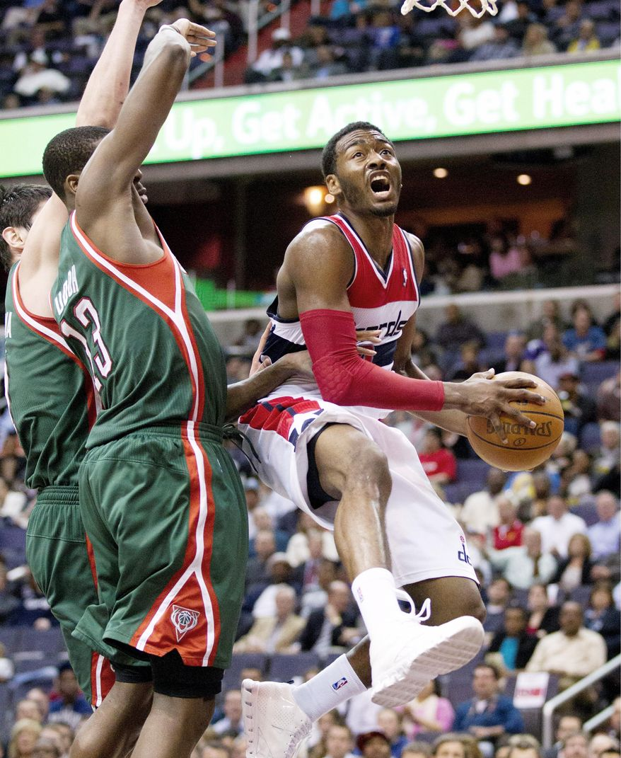 The Wizards have won five straight games for the first time since 2007. Point guard John Wall has averaged 16.4 points per game and eight assists. (Associated Press)