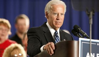 ** FILE ** Vice President Joe Biden speaks on Thursday, March 15, 2012, in Toledo, Ohio. (Associated Press)