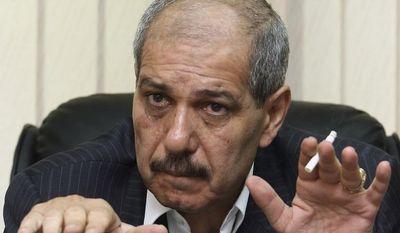Jordanian Prime Minister-designate Fayez Tarawneh gives an interview on Thursday, April 26, 2012, in Amman, Jordan. (AP Photo/Raad Adayleh )