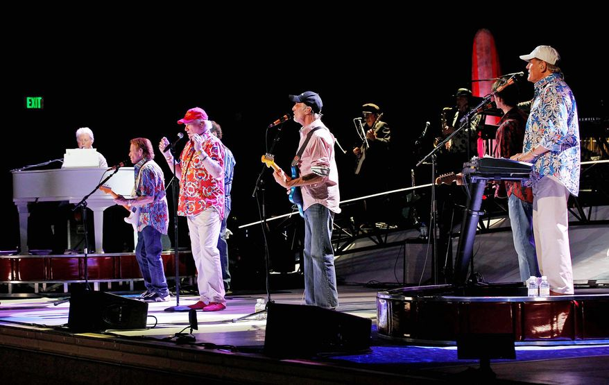 "The Beach Boys have reunited and are back on the road for a 5th anniversary tour. The opening show for (above, from right) Bruce Johnston, David Marks, Mike Love, Al Jardine and Brian Wilson was last Tuesday in Tucson, Ariz. ""All the egos are aside. It's just all about those group harmonies,"" Mr. Love, 71. ""The effect that it has on ourselves and other people is just fantastic."" (Associated Press)"