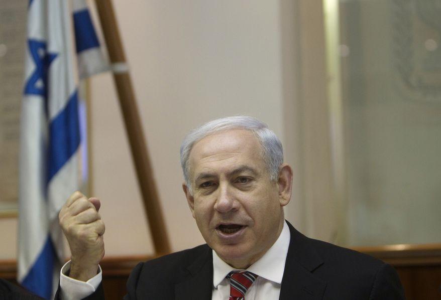Israeli Prime Minister Benjamin Netanyahu (Associated Press)
