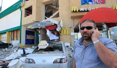 """Zahi Zeidan, owner of Nocean restaurant in Tyre, Lebanon, says he will reopen after his business was bombed """"because we serve alcohol."""" Four bombings in recent months have targeted liquor stores and restaurants in the port city, where much of the population shuns alcohol, which is forbidden in Islam. The country as a whole is the most tolerant in the Arab world. Beirut, the capital, is well-known for its bars and clubs frequented by locals and foreign tourists. (Associated Press)"""