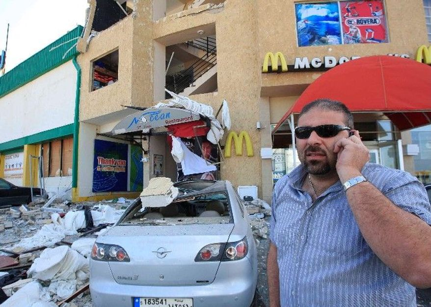 "Zahi Zeidan, owner of Nocean restaurant in Tyre, Lebanon, says he will reopen after his business was bombed ""because we serve alcohol."" Four bombings in recent months have targeted liquor stores and restaurants in the port city, where much of the population shuns alcohol, which is forbidden in Islam. The country as a whole is the most tolerant in the Arab world. Beirut, the capital, is well-known for its bars and clubs frequented by locals and foreign tourists. (Associated Press)"