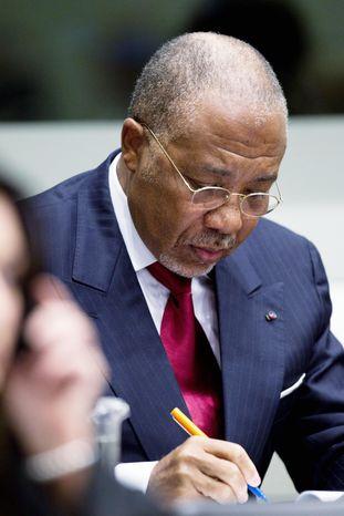 **FILE** Former Liberian President Charles Taylor (Associated Press)
