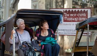 "Judi Dench (left) and Celia Imrie star in ""The Best Exotic Marigold Hotel,"" an ensemble British comedy in the tradition of ""Four Weddings and a Funeral"" and ""Love Actually."" (Fox Searchlight Films via Associated Press)"