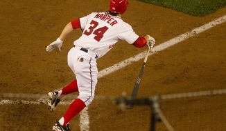 Rookie outfielder Bryce Harper was moved to third in the lineup, part of a series of moves that dropped Espinosa from second to sixth in the order. (Andrew Harnik/The Washington Times)