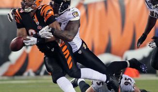 associated press Baltimore linebacker Terrell Suggs was the NFL's Defensive Player of the Year last season. He collected 14 sacks and forced a franchise-record seven fumbles.