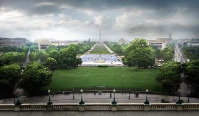 """Union Square, which includes the Ulysses S. Grant Memorial, will have more """"hardscape space"""" rather than lawn, to make the area more sustainable for when large crowds gather, designer Rodrigo Abela said. (Gustafson Guthrie Nichol & Davis Brody Bond)"""