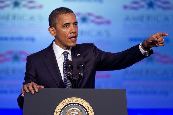**FILE** President Obama speaks April 30, 2012, in Washington. (Associated Press)