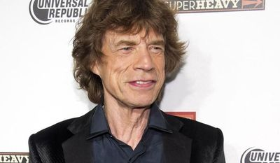 "** FILE ** In this Sept. 21, 2011, file photo, SuperHeavy member Mick Jagger attends the release party for the band's new CD, ""SuperHeavy,"" in New York. Jagger will host the ""Saturday Night Live"" finale on May 19. (AP Photo/Charles Sykes, file)"