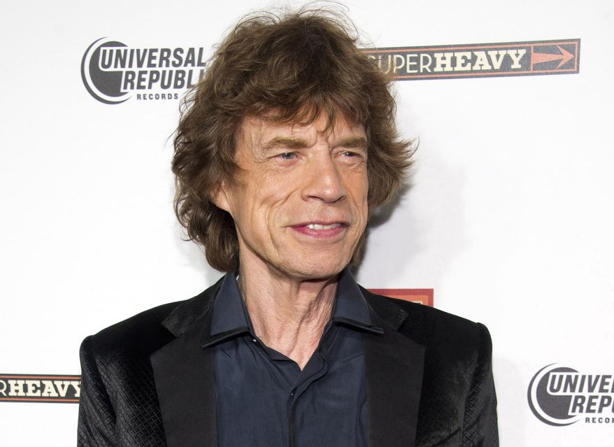 """** FILE ** In this Sept. 21, 2011, file photo, SuperHeavy member Mick Jagger attends the release party for the band's new CD, """"SuperHeavy,"""" in New York. Jagger will host the """"Saturday Night Live"""" finale on May 19. (AP Photo/Charles Sykes, file)"""