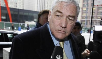 ** FILE ** In this Jan. 13, 2011, file photo, former media mogul Conrad Black arrives at the federal building in Chicago. Black was released from a federal prison in Miami early Friday, May 4, 2012, after serving about three years for defrauding investors. (AP Photo/Charles Rex Arobasgt, File)