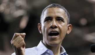 President Obama speaks May 5, 2012, during a campaign rally in Richmond, Va. (Associated Press)