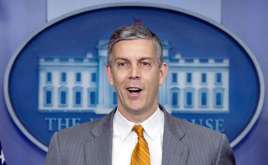 Education Secretary Arne Duncan chimed in Monday in support of federal recognition of same-sex marriage. (Associated Press)