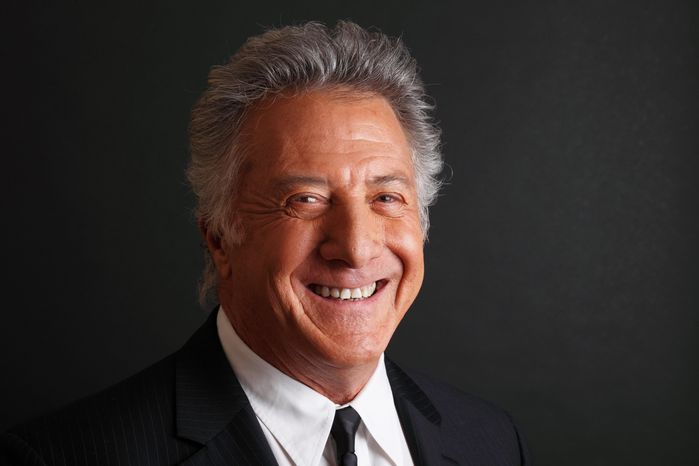 """** FILE ** In this Friday, Jan. 13, 2012 photo actor Dustin Hoffman poses for a portrait while promoting the new HBO television series """"Luck"""" at the Television Critics Association Winter Press Tour in Pasadena, Calif. A man who had a cardiac arrest while jogging in London's Hyde Park says his life was saved with help from a famous passer-by, Dustin Hoffman. Sam Dempster said the actor waited with him after he collapsed on April 27 until paramedics arrived. (AP Photo/Danny Moloshok, file)"""