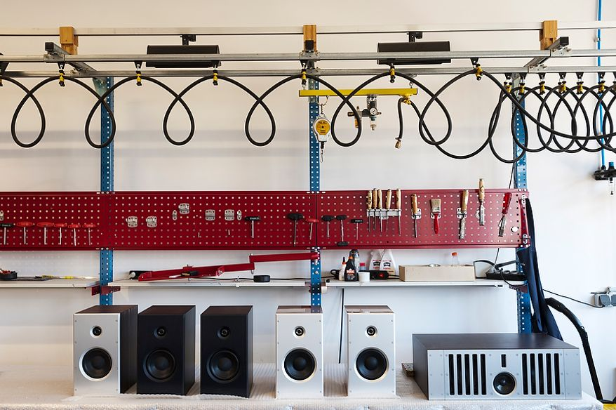 Boxes and amplifiers on a bench in the assembly workshop at Burmester. Burmester Audiosysteme was founded in 1977 and has since been producing top-range high end products in their Berlin manufacture.Daniel Pilar/Special to The Washington Times