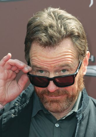 Bryan Cranston arrives at The John Varvatos 9th Annual Stuart House Benefit, Sunday, March 11, 2012, at The John Varvatos boutique in Los Angeles. The John Varvatos Stuart House benefit hosts an outdoor charity concert and family day to benefit Stuart House, a program of the Rape Treatment Center at Santa Monica-UCLA Medical Center. (AP Photo/ Katy WInn)