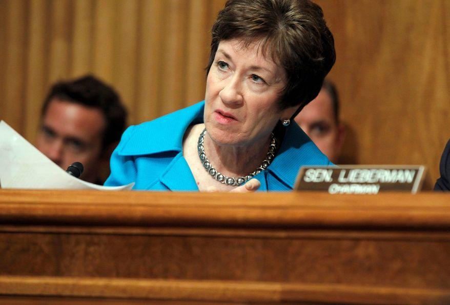 **FILE** Sen. Susan Collins, Maine Republican (Associated Press)