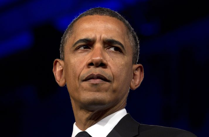 President Obama speaks May 8, 2012, in Washington. (Associated Press)