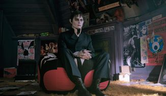 "Johnny Depp portrays Barnabas Collins in a scene from ""Dark Shadows,"" based on the 1960s ABC-TV soap opera of the same name. The best parts of the movie feature Mr. Depp doing elegant 18th century spit-takes in astonishment at 20th century technology, culture and mores. (Warner Bros. via Associated Press)"