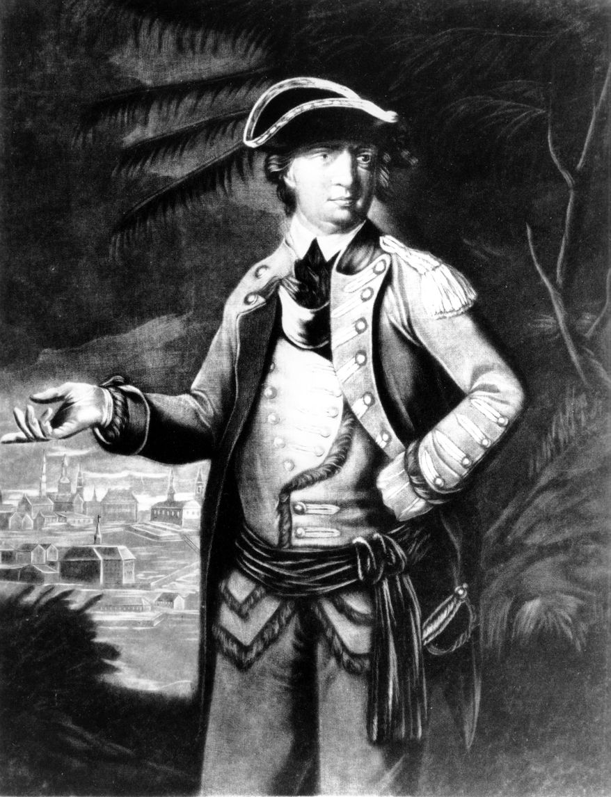 Gen. Benedict Arnold is shown in an undated sketch by an unknown artist. (AP Photo/Library of Congress)