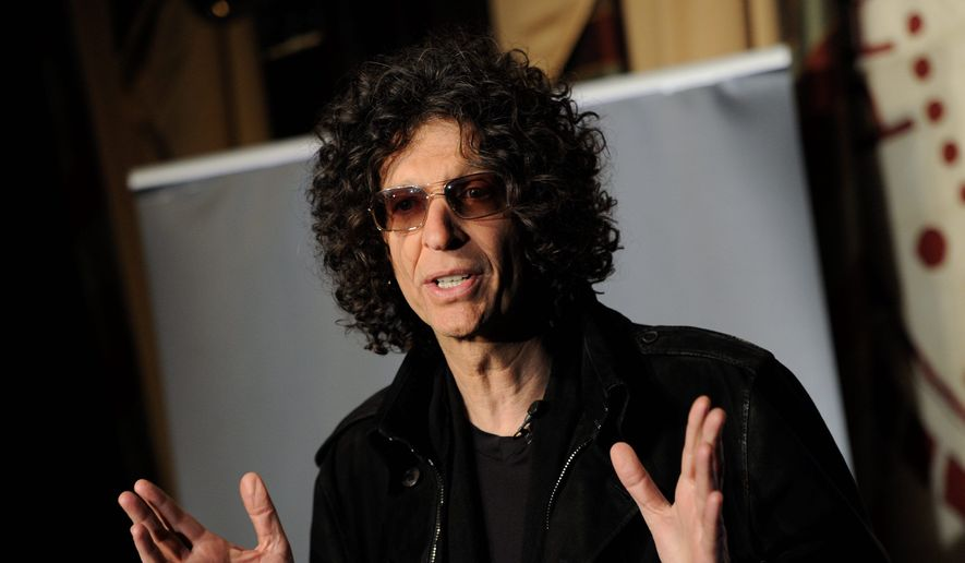 """SiriusXM satellite radio talk show host Howard Stern speaks to the media about his new role as a judge on """"America's Got Talent"""" at the Friars Club on Thursday, May 10, 2012, in New York. (AP Photo/Evan Agostini) ** FILE **"""