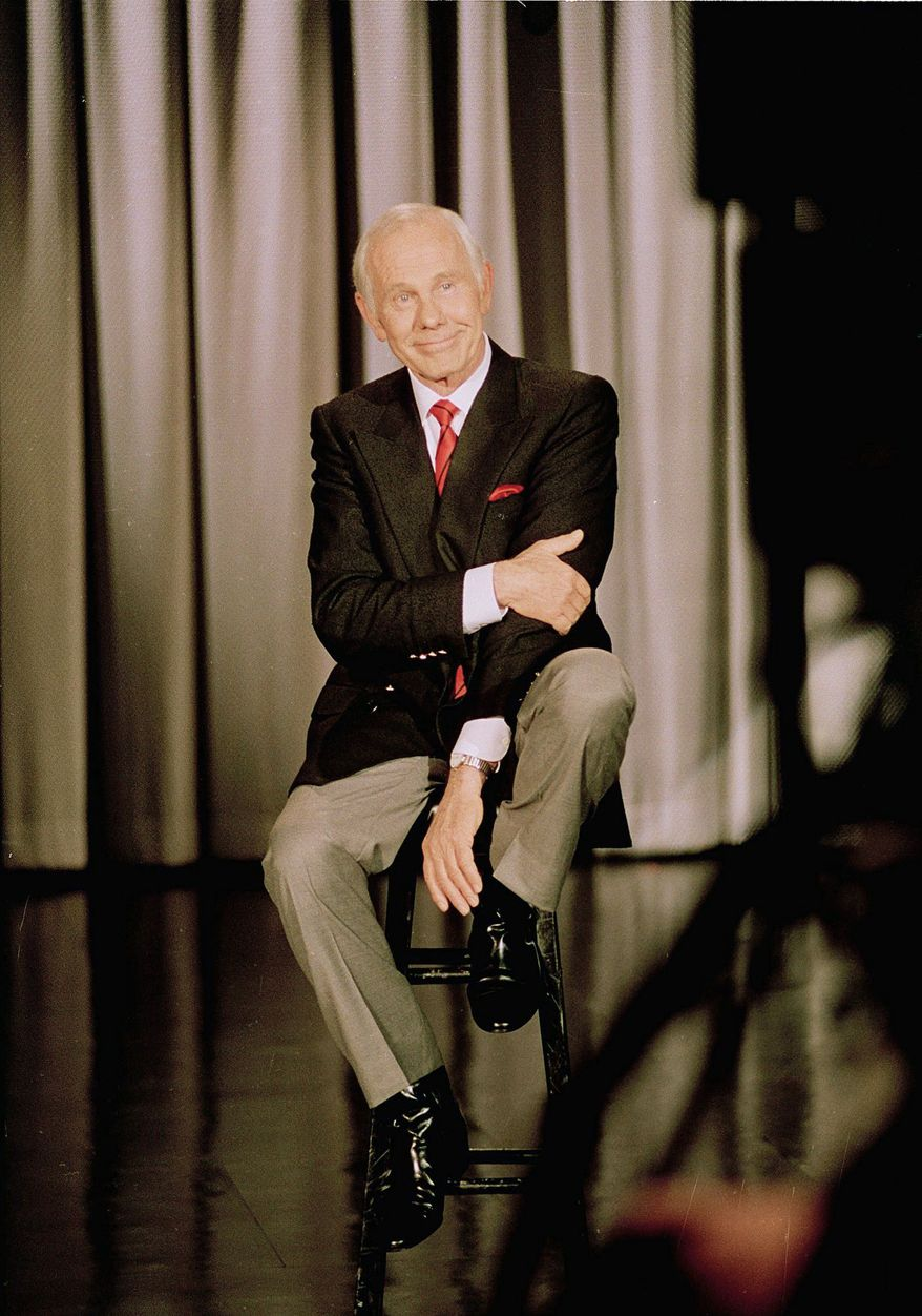 "Talk show host Johnny Carson taped his last ""Tonight Show"" on May 22, 1992. He hosted 4,531 episodes and received 23,000 guests. (Associated Press)"