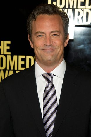 """Matthew Perry will star in """"Go On"""" on NBC as a fast-talking, sarcastic sportscaster who loses his wife in a car accident. (Associated Press)"""