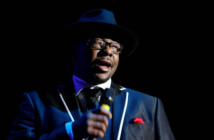 """Bobby Brown performs with New Edition in Tampa, Fla. His first solo album in 14 years, """"The Masterpiece, is set to be released on June 5. (Associated Press)"""