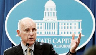 ** FILE ** California Gov. Jerry Brown (AP photo)