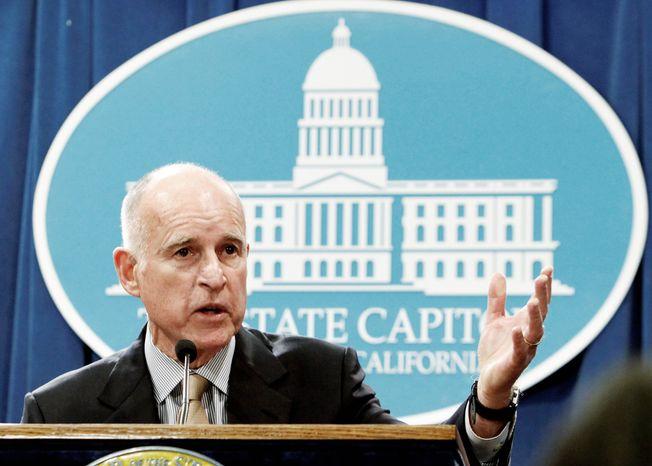 ** FILE ** California Gov. Jerry Brown (AP photo)
