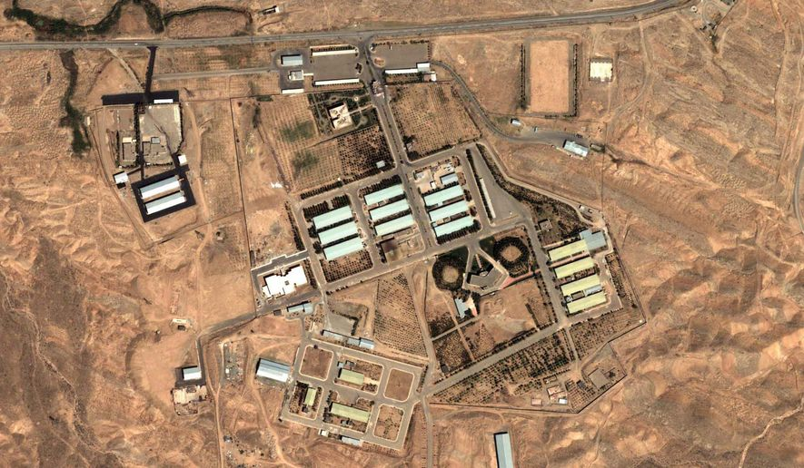 A satellite image provided by DigitalGlobe and the Institute for Science and International Security shows the military complex at Parchin, Iran, about 19 miles southeast of Tehran, in August 2004. (AP Photo/DigitalGlobe and the Institute for Science and International Security) ** FILE **