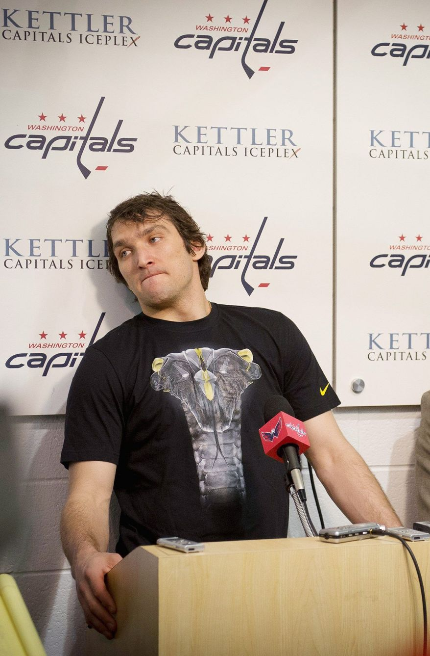 Alex Ovechkin led the Capitals in postseason scoring with nine points, but he often wasn't on the ice when the situation called for defense. (Rod Lamkey Jr./The Washington Times)