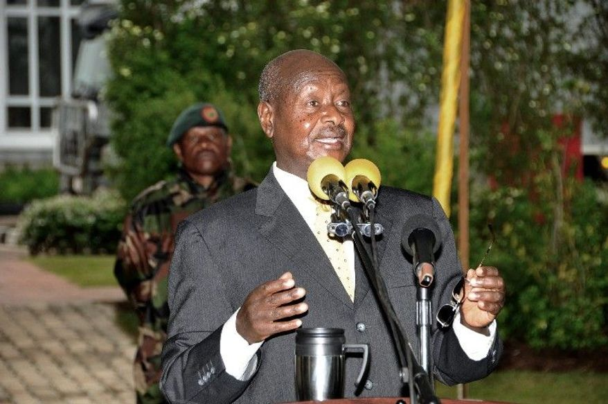 Ugandan President Yoweri Museveni, being pressured by church leaders to retire after his current term, had term limits eliminated in 2006. He has ruled for 26 years. (Associated Press)
