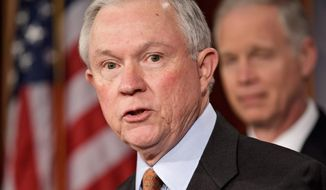 **FILE** Sen. Jeff Sessions, Alabama Republican