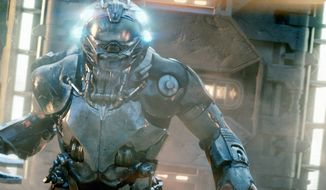 """An alien invader is on the prowl in """"Battleship,"""" a film that works if the intent is a satirical take on big-budget action films. (Universal Pictures via Associated Press)"""