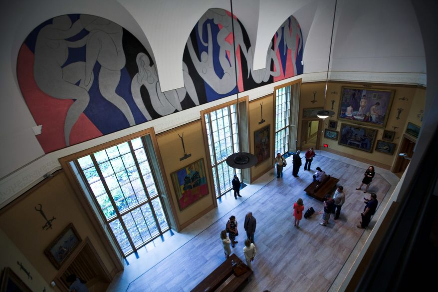"It may look like a museum, but officials are quick to point out that the Barnes Foundation will remain true to - and expand upon - the educational mission that its creator intended. Opponents say removing the collection from its original context has created a ""McBarnes."" (Associated Press)"