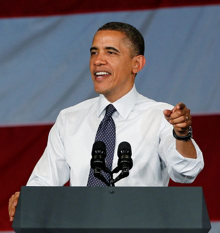 "** FILE ** President Obama cited a respect for states' rights in connection with his ""evolution"" toward supporting gay marriage. (Associated Press)"