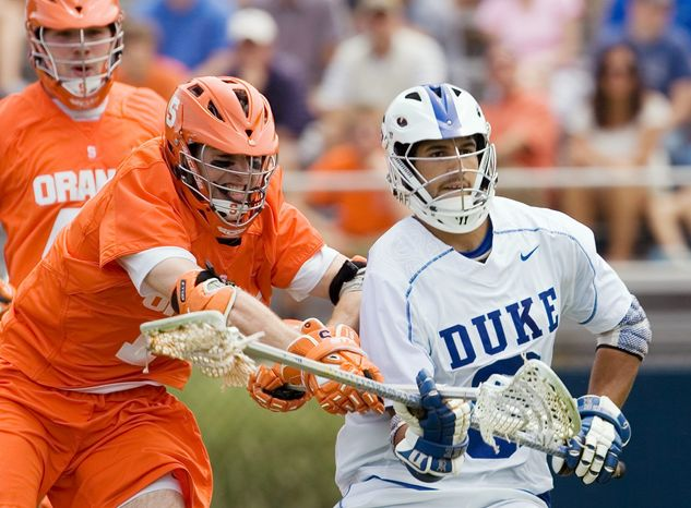 Duke long pole CJ Costabile has a school-record 368 groundballs. He's a finalist for the Tewaaraton Award, given to the NCAA player of the year. (Associated Press)